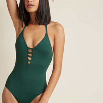 Splash It Out One-Piece Swimsuit in Pine