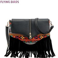 Women's Tassel Designed Single Strap Purse