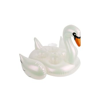 Inflatable Drink Holder - Pearl Swan