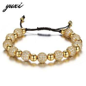 YUXI 2017 New Rhinestone Balls Chain Bracelets For Women Luxury Crystal Beads Bracelet Femme Jewelry Gifts Pulseras Mujer Moda