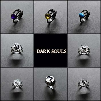 New Dark Souls 3 Demon Paw crystal Ring men and women fashion jewelry