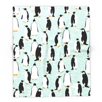 Society6 Penguins Go With The Floe Blanket