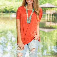 Show Your Soft Side Piko Top, Fiesta