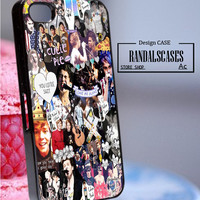 Rc311Y10_5 sos, 5 sos collage art,music,band - Accessories iPhone - design print for iPhone 5C - White Case - Material Hard Plastic (PC)