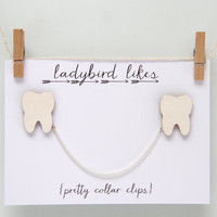 Tooth Wooden Collar Clips Limited Edition