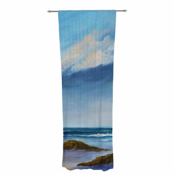 "Rosie Brown ""Summer Showers"" Beach Decorative Sheer Curtain"