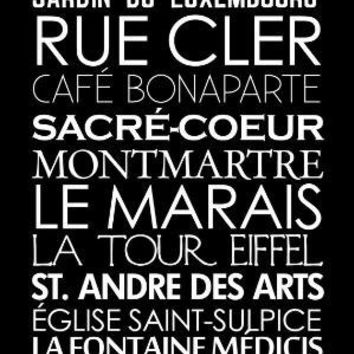 Paris French Bus Roll SUBWAY Sign Art STOCK Destination by GeeZees