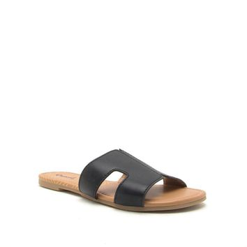 Women's Slide Sandal with Cut Outs