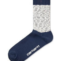 Navy/Navy Heather Davis Socks