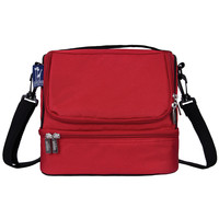 Cardinal Red Double Decker Lunch Bag - 52500