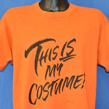 80s This Is My Costume Halloween t-shirt Large