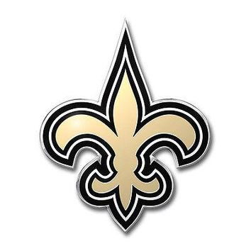 Licensed Official New ProMark NFL New Orleans Saints Aluminum Color Car Truck Emblem Sticker Decal