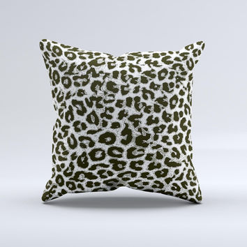 Neutral Cheetah Print Vector V3 Ink-Fuzed Decorative Throw Pillow