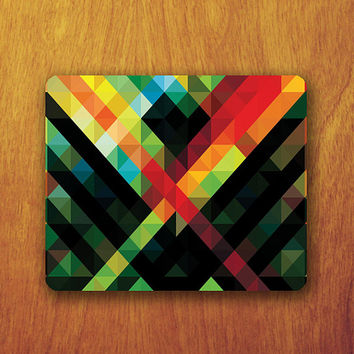 Colorful Abstract Funky Geometric Mousepad Beautiful Best Boss Gift Monogrammed Mouse Pad Decoration Office Personalized For Homeware