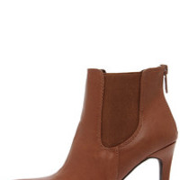 Virtuous Tan Pointed Toe Booties
