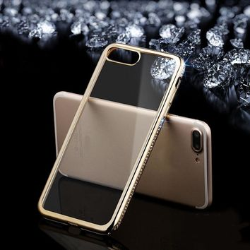 Silicone Case For iPhone 8 7 6 6S Plus Coque Luxury Soft TPU Bling Silicon Back Cover For  iPhone x Capa Phone Cases