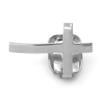 Rhodium Cross Single Tooth Cap Grillz