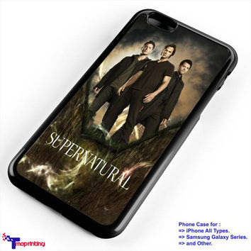 Supernatural Sam Dean and Castie - Personalized iPhone 7 Case, iPhone 6/6S Plus, 5 5S SE, 7S Plus, Samsung Galaxy S5 S6 S7 S8 Case, and Other