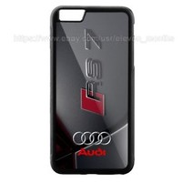 Audi Logo RS 7 Black For iPhone 6 6s 6+ 6s+ 7 7+ 8 8+ Hard Plastic Protect Case