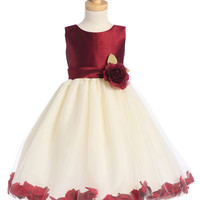 Shantung and Tulle Flower Petal Dress - More Colors Available