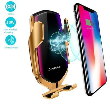 Wireless Car Charger Automatic Clamping Phone Holder