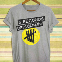 Screenprint funny popular shirt on etsy 5 second of summer,5sos shirt,5sos for t shirt mens, t shirt woman available size by RnhKaos