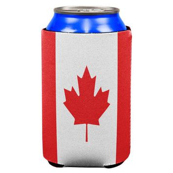 DCCKU3R Canadian Canada Flag All Over Can Cooler