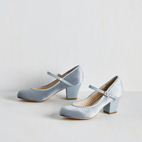 Make a Debut of It Velvet Heel | Mod Retro Vintage Heels | ModCloth.com