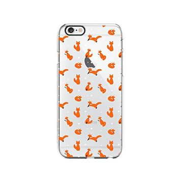 Cute Fox Pattern Transparent Silicone Plastic Phone Case for iphone 7PLUS _ LOKIshop (iphone 7 plus)