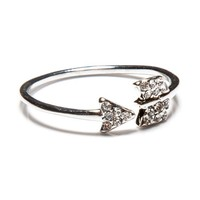 Thin Silver Arrow Ring