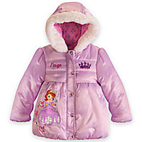 Sofia Puffy Jacket for Girls | Disney Store