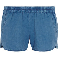 Madewell Linen and cotton-blend chambray shorts