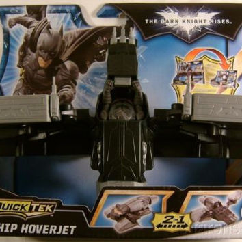 Batman The Dark Knight Rises Quick Tek Gunship Hoverjet Vehicle 2in1 Mattel Toy