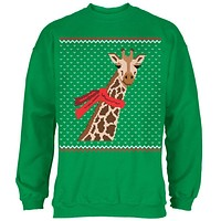 Big Giraffe Scarf Ugly Christmas Sweater Mens Sweatshirt