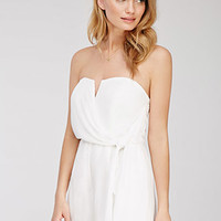 Strapless Knot-Front Romper