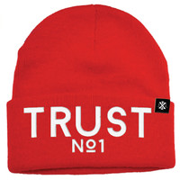 Trust No1 Beanie in Red *Ships 11/10