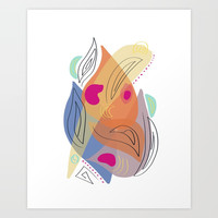 Modern minimal forms 21 Art Print by naturalcolors