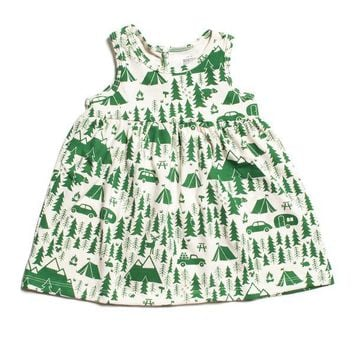 Green Campground Oslo Dress by Winter Water Factory