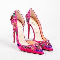 QIYIF ?¨®¡騪?¨ª¨®Christian Louboutin Pink Gem  Artifice 120  D  Orsay Pumps