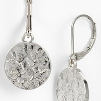 Women's Nordstrom Textured Disc Small Drop Earrings