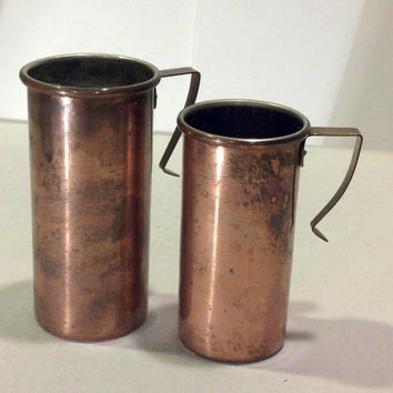 Rustic Copper Measuring Cups - Vintage Kitchen - Charming French Decor, Country, Farmhouse, Cottage Chic