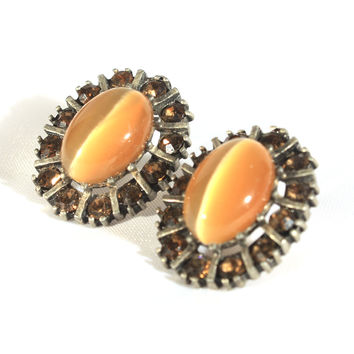 Tigers Eye Pierced Earrings