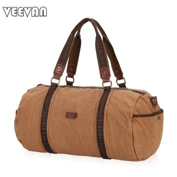 2017 New Fashion Women Travel Bags Vintage Design Canvas Handbags Brands Men Shoulder Bags Duffle Crossbody Bag Carry on Luggage