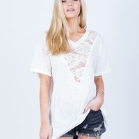 Floral Lacey Tunic