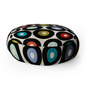 Sharon Turner vinyl Floor Pillow Round