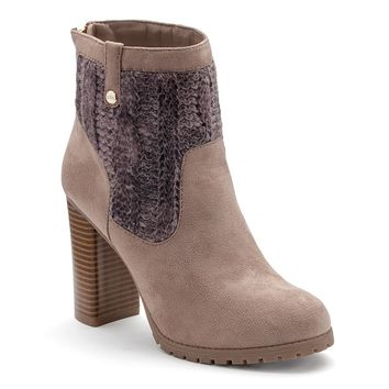 Juicy Couture Women's High Heel Sweater Ankle Boots