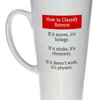 Science Classification Funny Coffee or Tea Mug, Latte Size