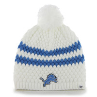 Women's Detroit Lions '47 Brand Blue Swanson Cuffed Knit Hat with Pom