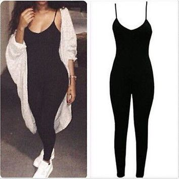 """runway"" Sexy one piece bodycon jumpsuit"