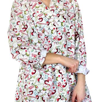 Dixie Tunic- Time for Wine Print by Tulip Clothing